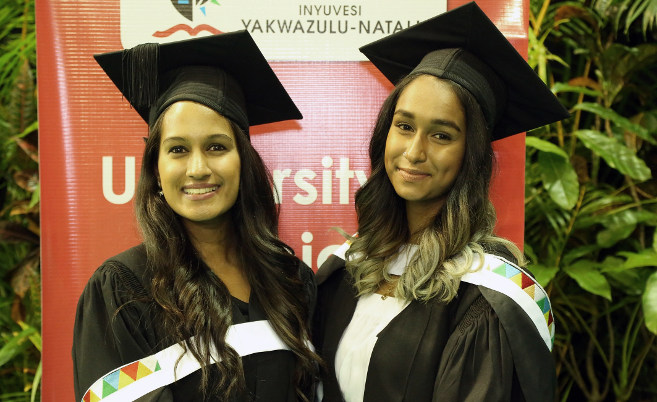 UKZN Lecturer's Daughters Graduate Together